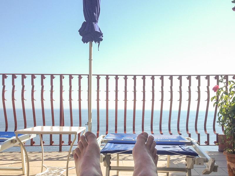 Relaxing in the Solarium