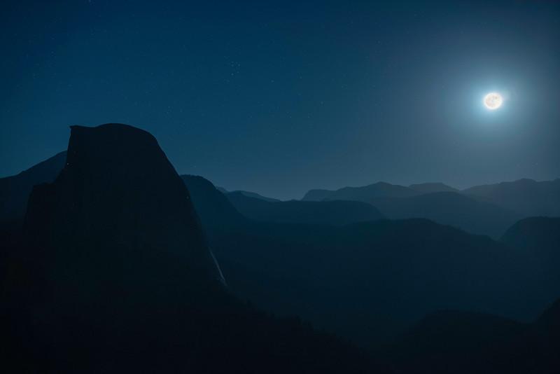 Yosemite - Moon rise