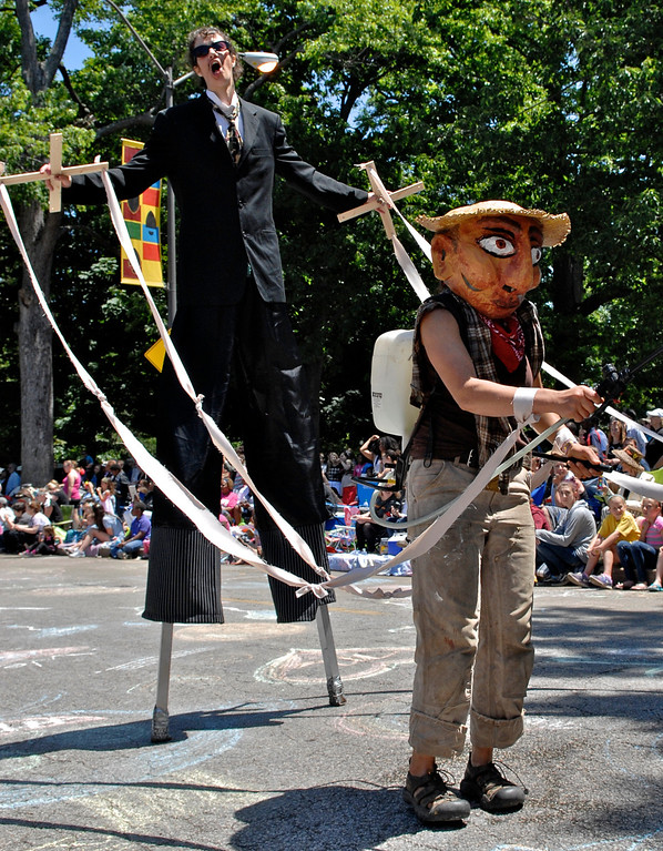 . Jeff Forman/JForman@News-Herald.com Free Beets Root for Food Justice entry in the Cleveland Museum of Art 25th annual Parade the Circle June 14 in University Circle.