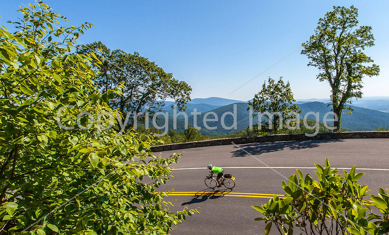 Skyline Drive, Virginia - Cyclists  - Day 7 of Adventure Cycling Tour
