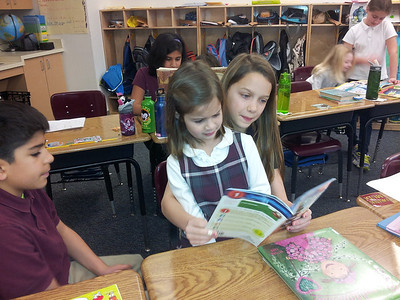 Fourth Grade and Kindergarten Reading Buddies