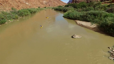 River rafters on the Colorado River near Moab