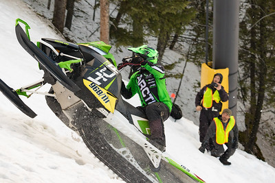 Snowmobile Hill Climb