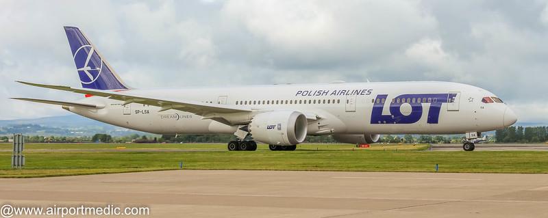SP-LSA B787-9 LOT Polish Airlines @ Glasgow Airport (EGPF)