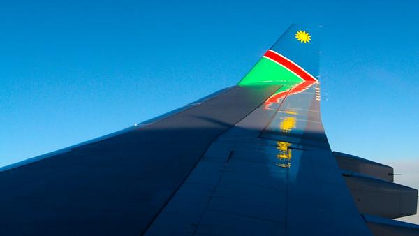 Anreise und Windhoek