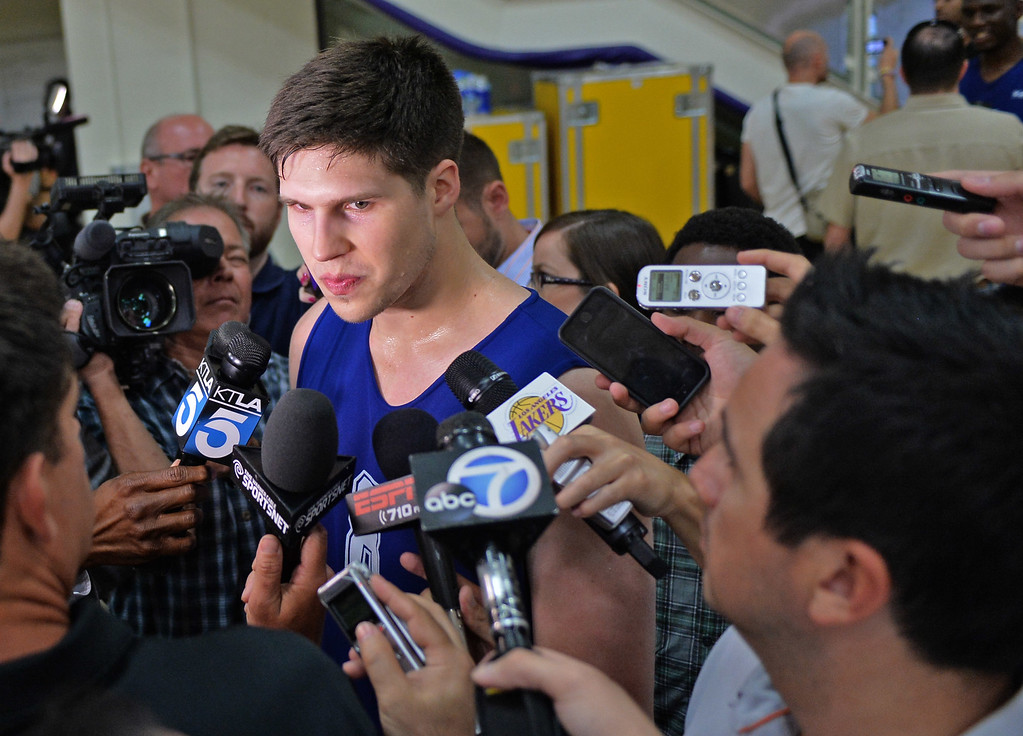 . Lakers pre-draft workout at Toyota Sports Center Wednesday June 4, 2014. Doug McDermott, Creighton.      Photo By  Robert Casillas / Daily Breeze