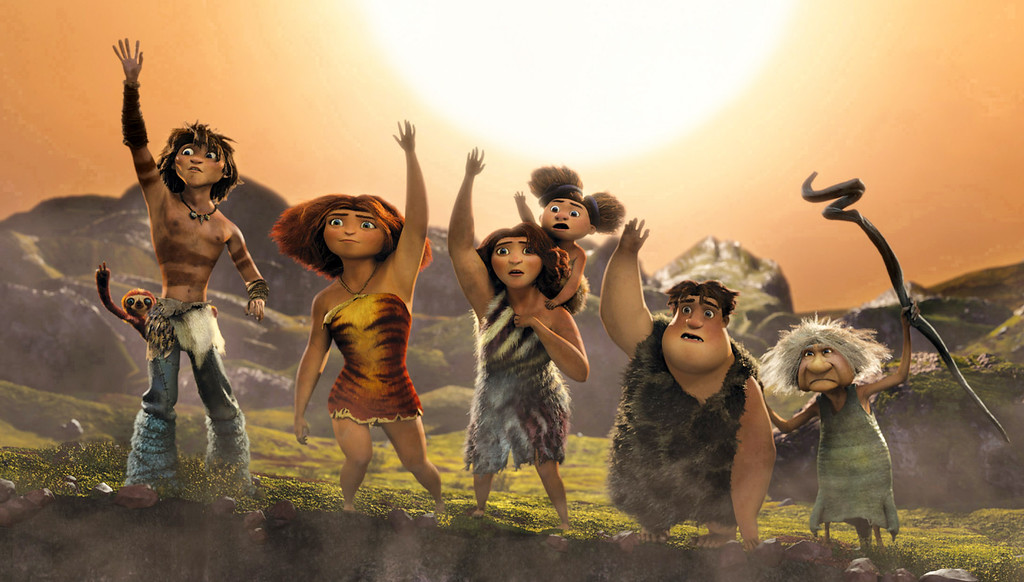 ". 2014 Academy Award Nominee for Best Animated Feature: ""The Croods.\"" (AP Photo/DreamWorks Animation)"