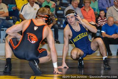 11-17-13 Michigan Wrestling Vs Oregon State