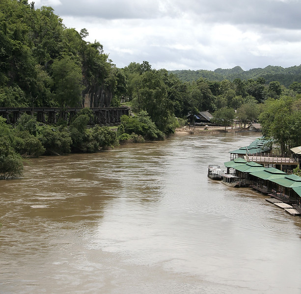 Here you can see the River Kwai and the train tracks we just used. There is more than one reason it is called the Death Railway.