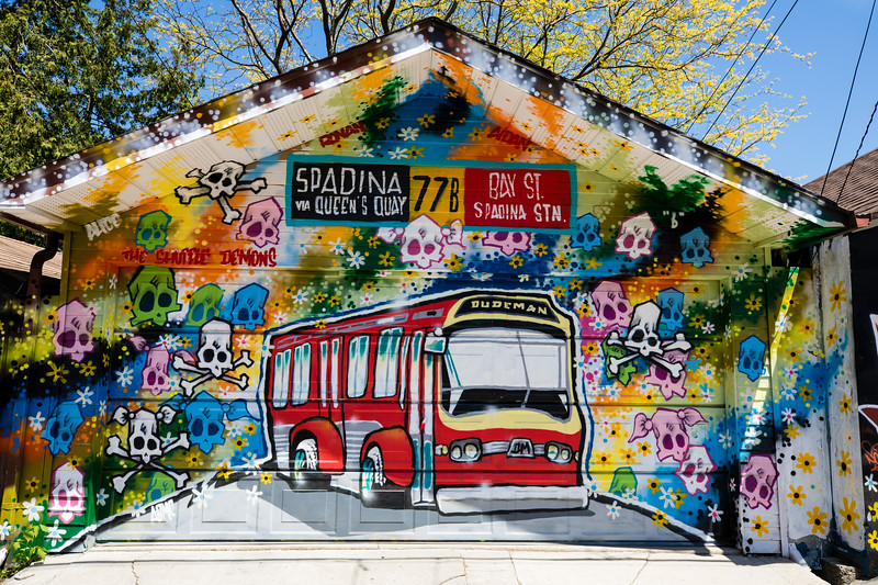 Mural in David French Lane