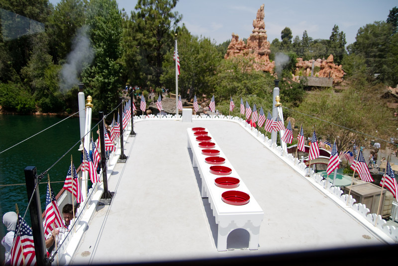 Roof & Fire Buckets on the Mark Twain Riverboat at Disneyland