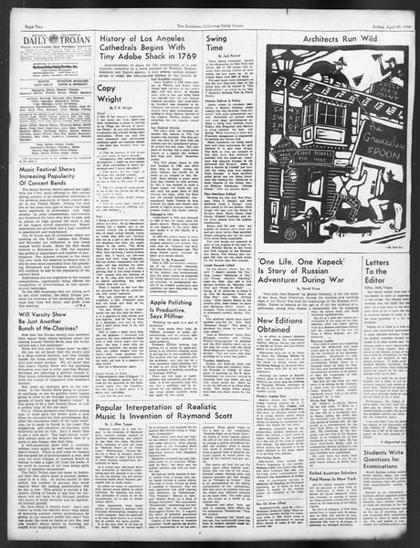 Daily Trojan, Vol. 29, No. 126, April 29, 1938
