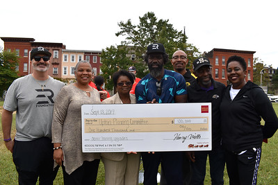 Ed Reed Foundation Donates Check to Upton Planning Committee-9.13.19