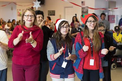 Salvador Sanchez Students Sing at Mi Pueblo Adult Day Care