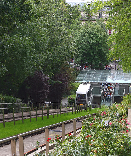 A view of the funicular