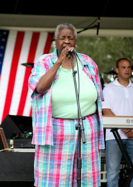 Vera Gilmore leads Star Spangled Banner