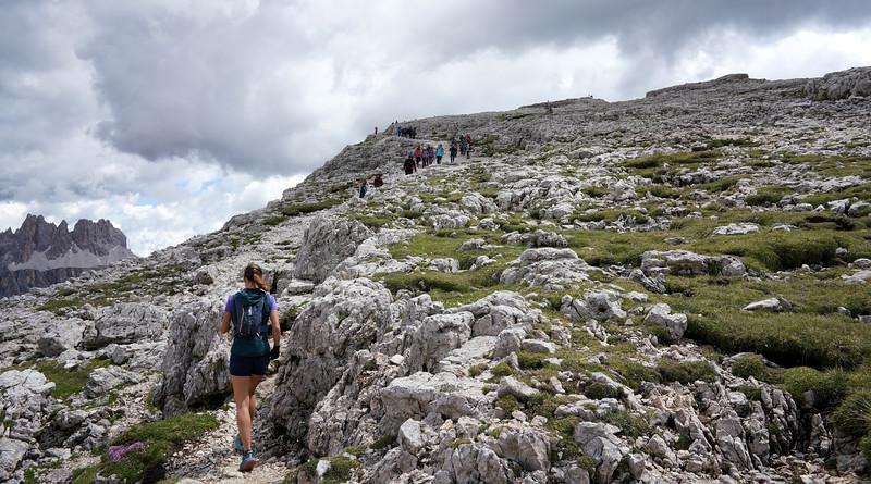 Up Mt Nuvolau we go!
