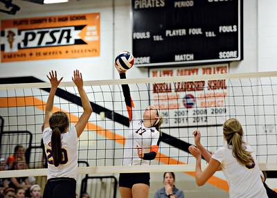 2014 Platte County Volleyball vs Kearney