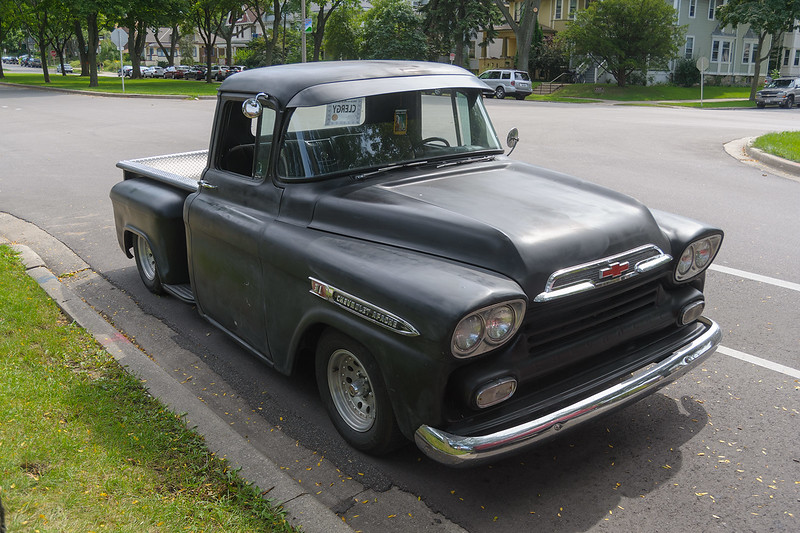 The 1959 Chevrolet Apache before processing.