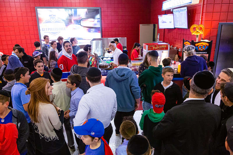 Hungry fans crowd around the Kosher concession stand during the first period intermission during the Panthers game against the Vancouver Canucks at the BB&T Center on Thursday, January 9, 2020. The Panthers would go on to beat the Canucks 5-2. [JOSEPH FORZANO/palmbeachpost.com]
