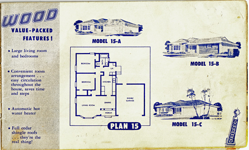 Lakewood Park, Floor Plans for Model 15, A, B, and C