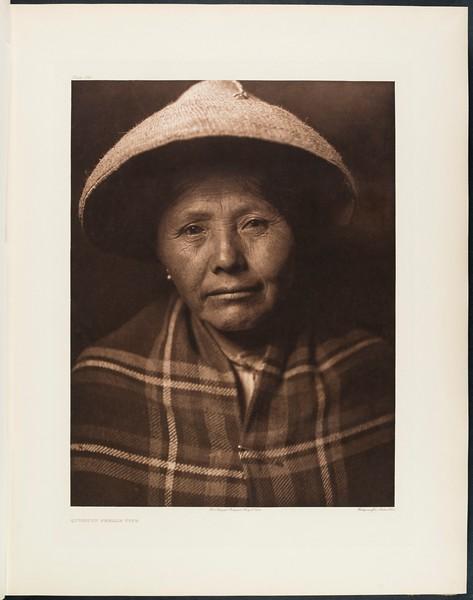 The North American Indian, vol. 9 suppl., pl. 294. Quinault female type