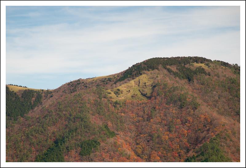 Daimonji mountain in its fall splendor.