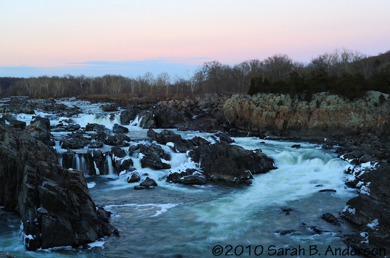 Great Falls of the Potomac River  slow-mo sunset  Fairfax County, Viriginia December 2010