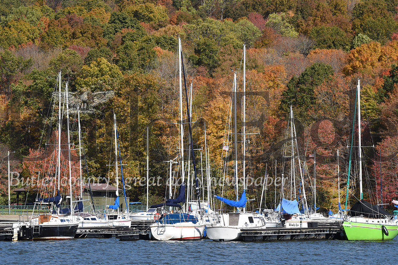 Perfect Picture Day at Lake ArthurHarold Aughton/Butler Eagle: The trees are beginning to change color at Lake Arthur.