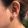 .52ctw Carre Cut Diamond Stud Earrings 12