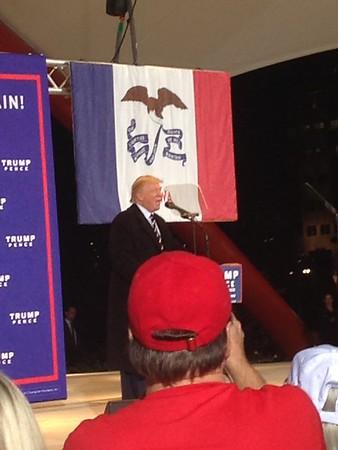 Trump rally at McGrath Amphitheatre Oct. 28