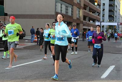Marathon at 13.1 miles - 2013 Detroit Free Press Marathon
