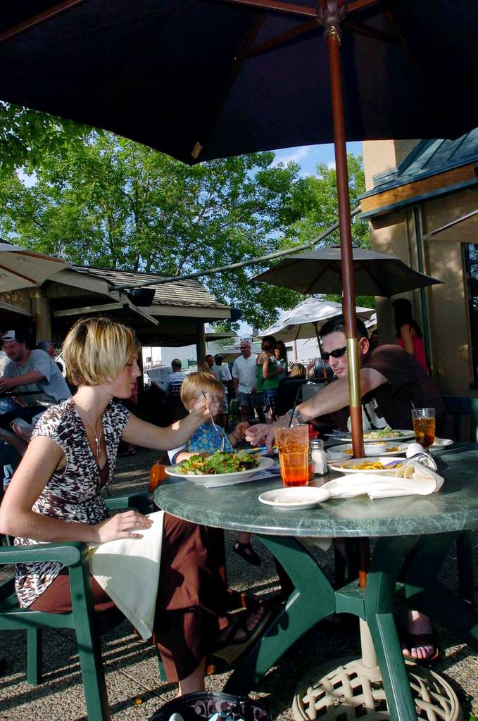 . Must nab a patio seat at Pier 500 in Hudson. The spot overlooking the St. Croix River is a perfect place to meet friends on a sunny day. <p>-- By fashion writer Nancy Ngo <p>-- Photo from Pioneer Press files
