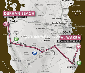 Tour of Qatar Stage 1: Al Wakrah > Dukhan Beach, 135kms