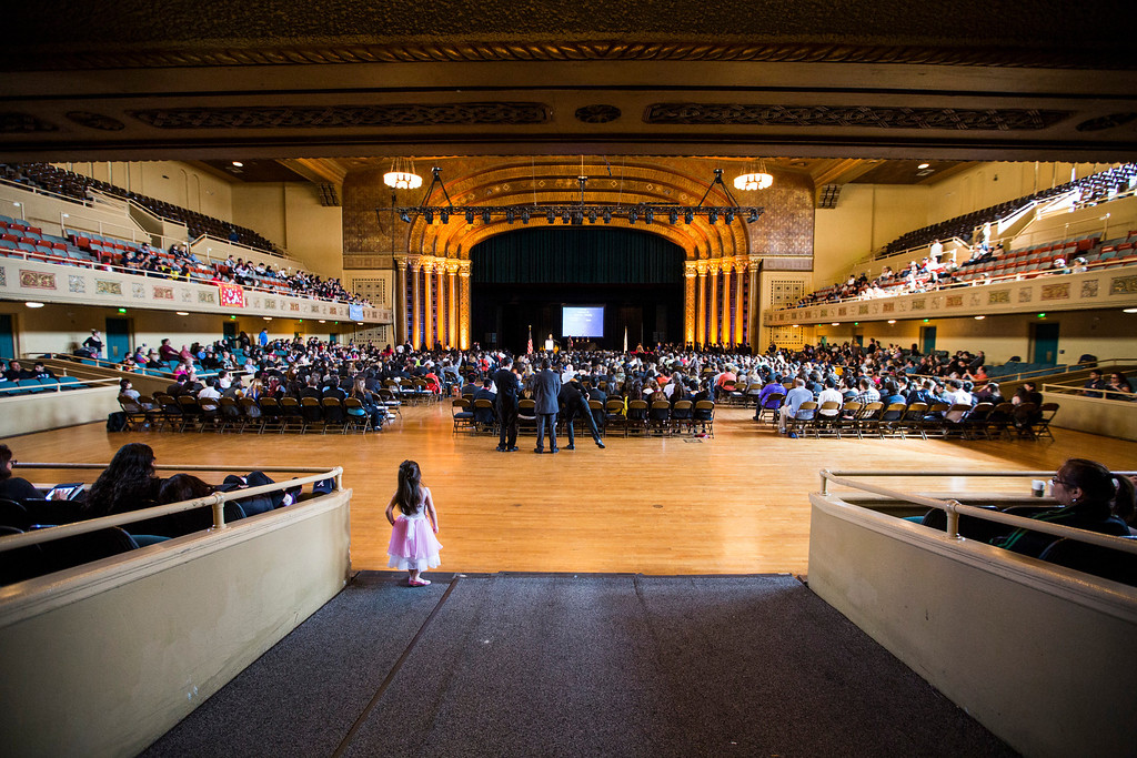 . The 35th annual California Academic Decathlon Awards Ceremony at the Memorial Auditorium in Sacramento, California, U.S., on Sunday, March 23 2014. Ken James/LA Daily News