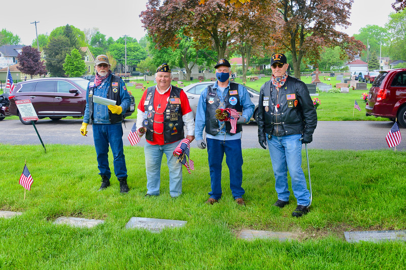 Memorial Day - Flag Placing Ceremony - Saints Peter and Paul Cemetery - Naperville, Illinois - May 22, 2020