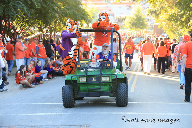 Make way for the tiger!  Clemson University