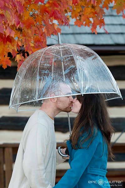Anna and Mike, Rainy Farm Museum, Engagement