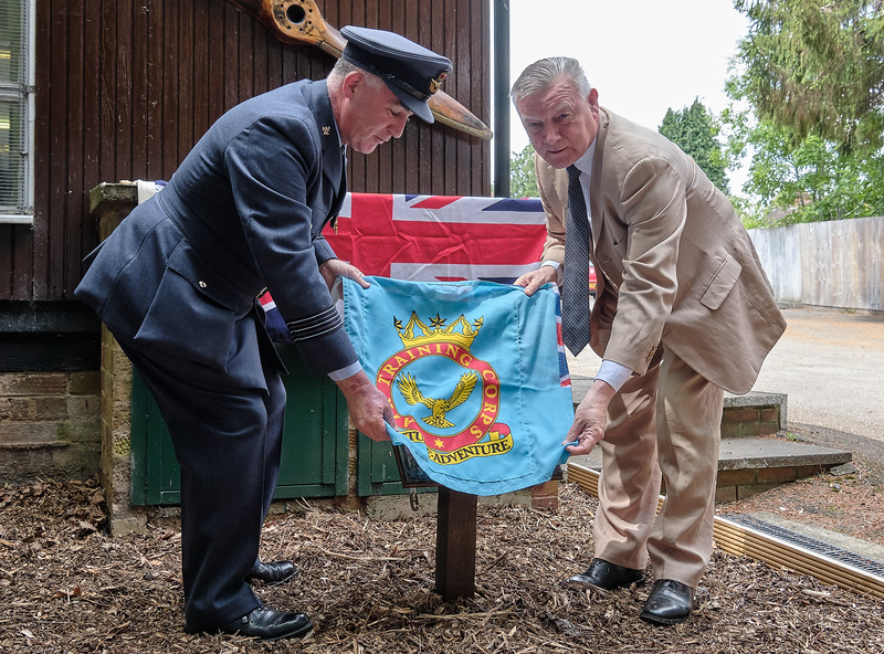 493 (Kings Heath & Moseley) Air Cadet Squadron rededicate the memorial to Flight Lieutenant Ron Crook in its new home at the squadron headquarters on Haunch Lane, Kings Heath, Birmingham on Sunday 7 July 2019.