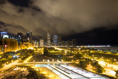 Nightime in Chicago