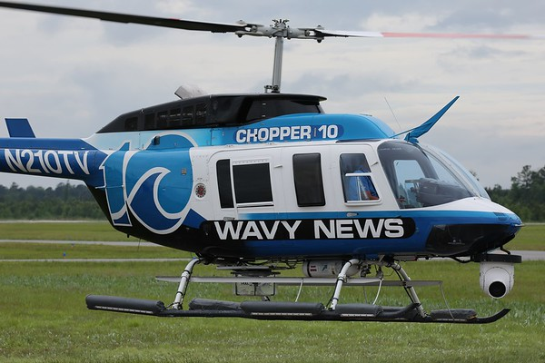"""WAVY-TV 1988 Bell 206L-3 """"Long Ranger"""", Norfolk, 29May18"""