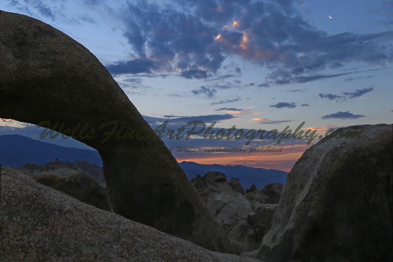Mobius moonrise at dawn