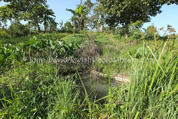 UGANDA, Mbale District, Nabugoye Village. Mikvah. Abayudaya Jews. (9.2013)