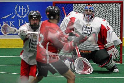 9/23/2015 - Canada vs. England - Tsha'Hon'nonyen'dakhwa' , Onondaga Nation Territory (Onondaga Nation Arena, Nedrow, NY) - Photographer Larry Palumbo