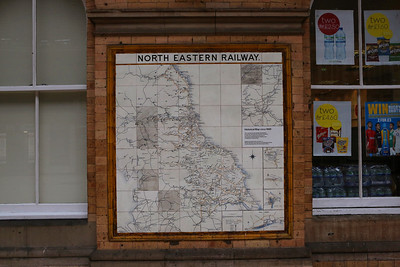 North Eastern Railway Tiled Wall Maps