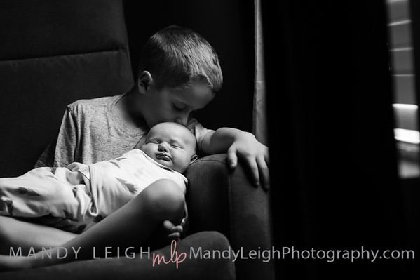 Connor, Cameron and Kinleigh B&W 3 Weeks Old