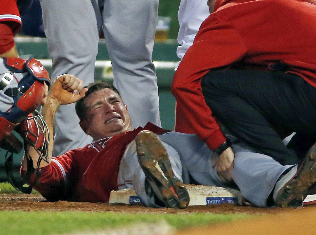 ". 7. (tie) GARRETT RICHARDS <p>Angels may not have to wait �til next year, but he will. (unranked) </p><p><b><a href=""http://mlb.mlb.com/news/article/mlb/angels-garrett-richards-carted-off-field-after-injuring-left-knee?ymd=20140820&content_id=90629760&vkey=news_mlb\"" target=\""_blank\""> LINK </a></b> </p><p>    (AP Photo/Elise Amendola)</p>"