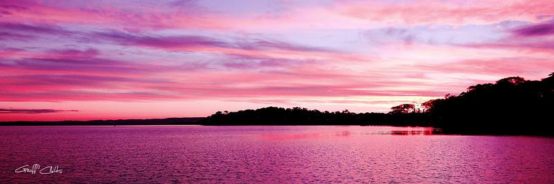 Pink Glow  Sunset.