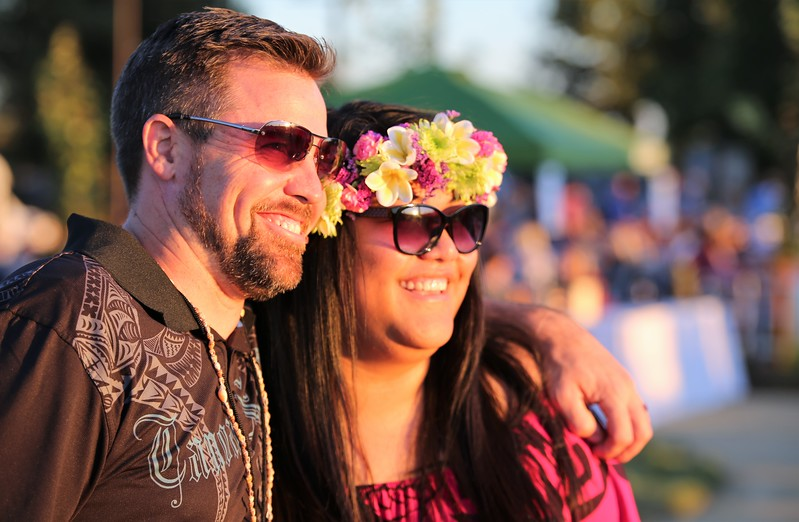 Shaun Ross and Nikkole Suka enjoy the sunset at Becoming Independents 4th annual luau Held on Saturday September 23rd in Becoming Independents garden. Guests enjoyed Polynesian dancing, live music, raffles, signature drinks and luau feast while supporting vital programs in this fundraiser. (Photos Will Bucquoy for the Press Democrat).