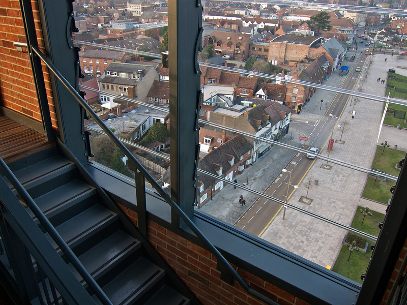 At the top of the RSC tower